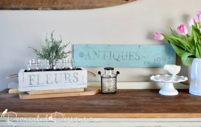 IOD stamps used to make rustic home decor