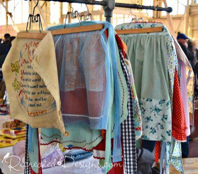 vintage kitchen aprons found at 613 flea at Lansdowne in Ottawa, Canada
