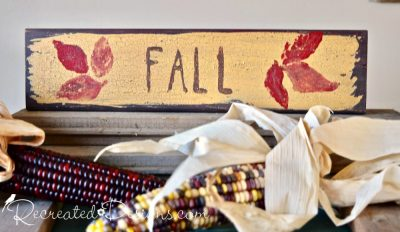 Fall sign painted with Miss Mustard Seed Milk Paint