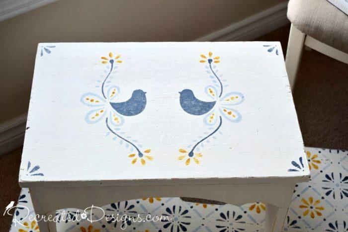 Dala Muses Scandinavian inspired bird stencil