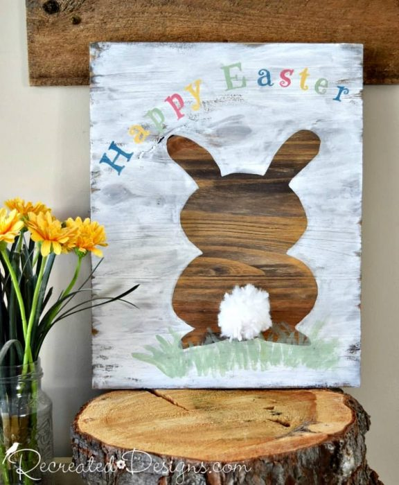 Happy Easter Bunny Sign
