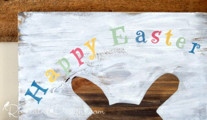 Happy Easter lettering from a Recreated Designs pattern