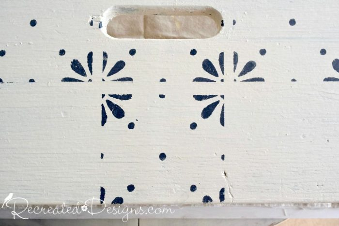 layering Fusion Mineral Paint with stencils