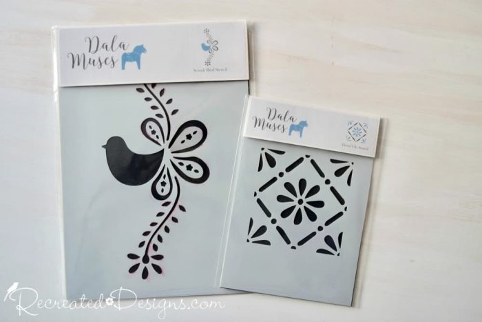 Dala Muses bird and tile stencils
