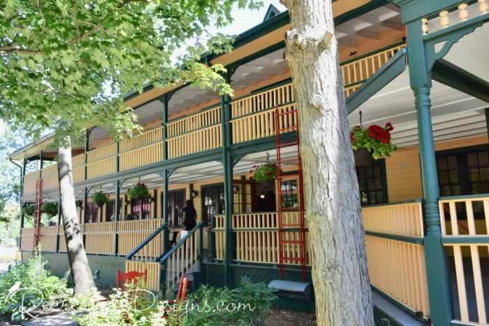 Main building of The Opinicon hotel and resort Ontario