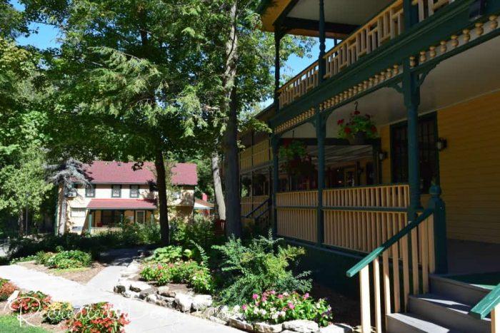 The Opinicon main building porch Onatrio travel