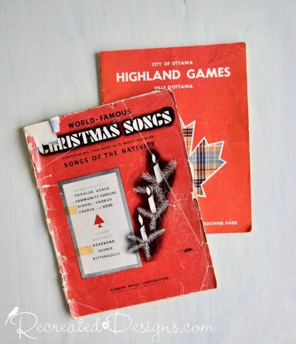 vintage ephemera music and Highland Games book