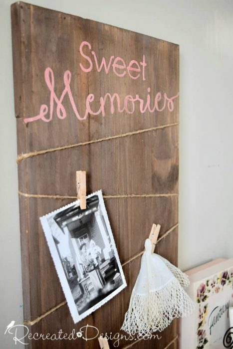 Sweet memories photo board Recreated Designs Patterns