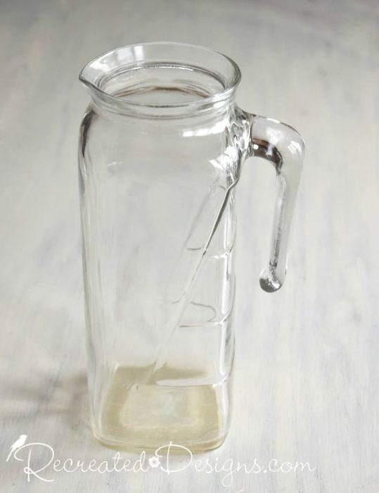 vintage glass pitcher kitchenware
