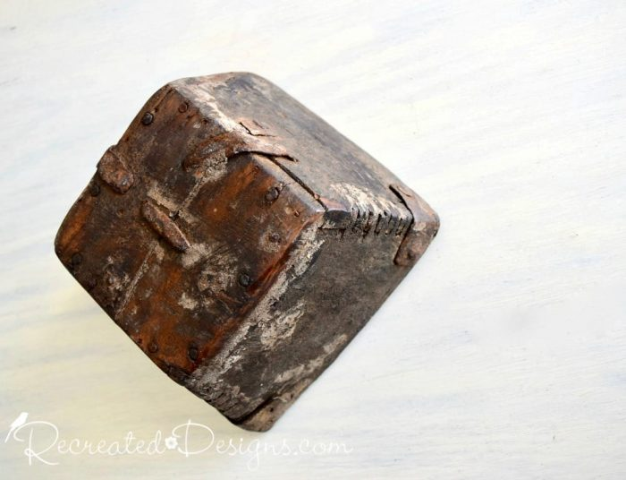 very old handcrafted berry box