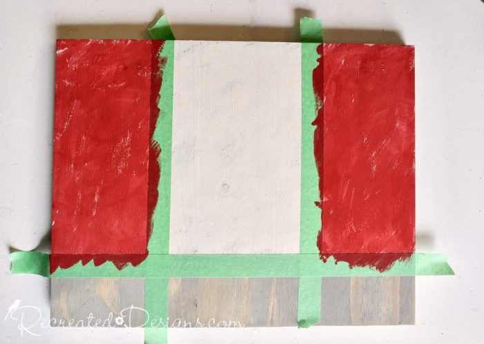 adding red stripes to a Canada Flag sign