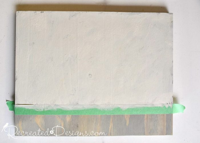 painting a Canada Flag using Miss Mustard Seed's Milk Paint