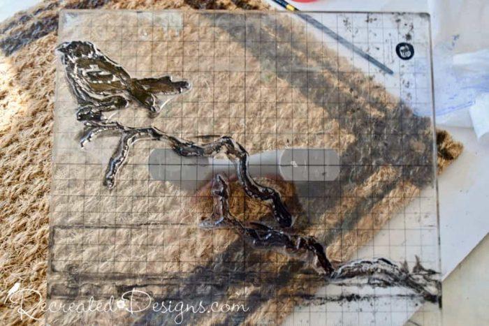 IOD stamps diy project doormat