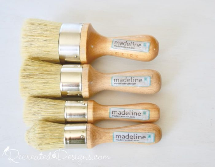all sizes of Madeline wax brushes