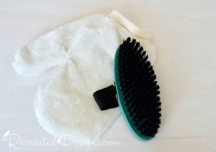 Madeline wax mitt and brush