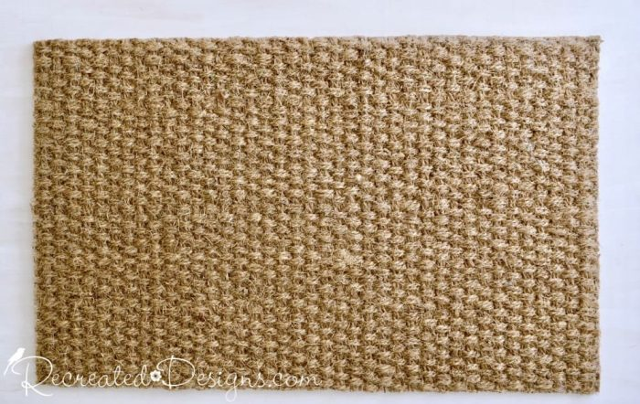a plain IKEA jute rug