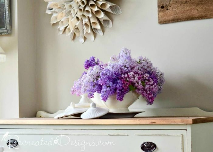 fresh Lilacs in a vintage Ironstone tureen