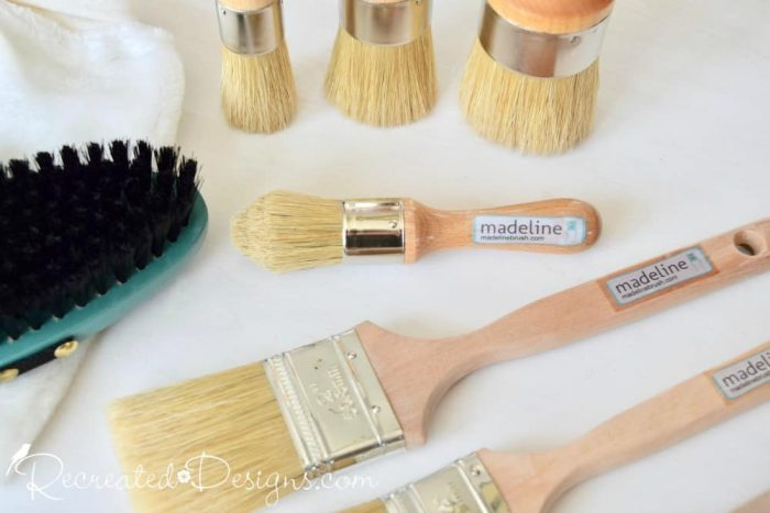 a line of Madeline brushes for painting furniture