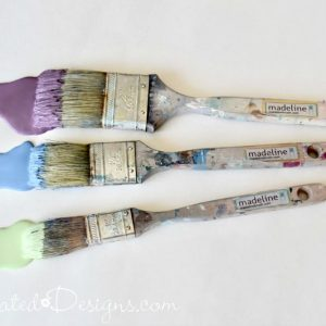 Madeline Paint brushes with paint on them