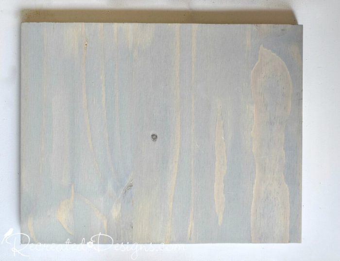 laminated pine board dyed grey