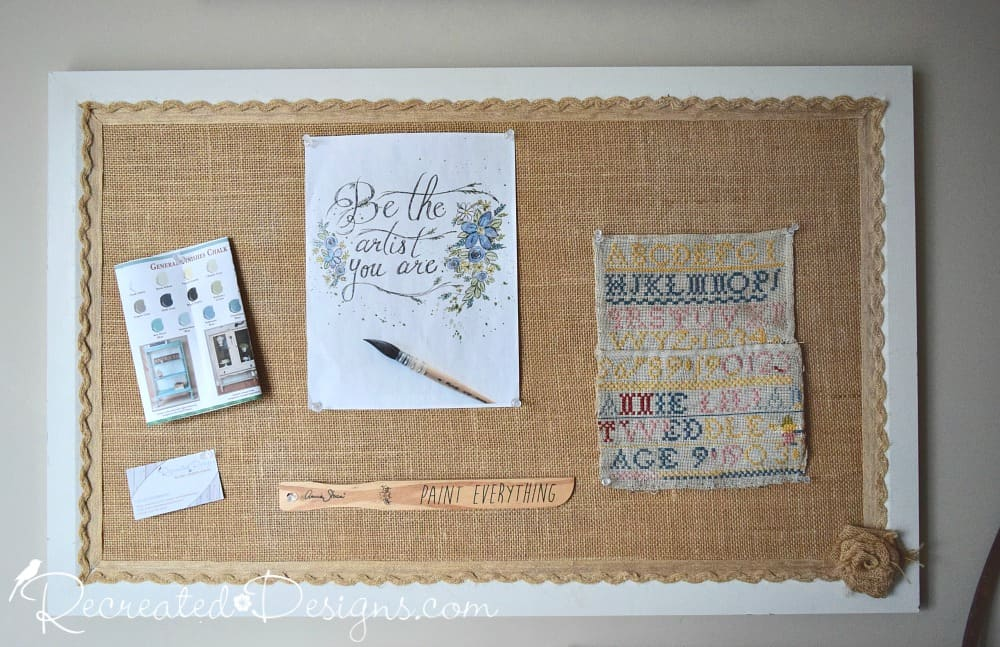 How To Turn An Old Cork Board Into A