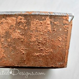 adding Copper metallic foil to an old picking basket