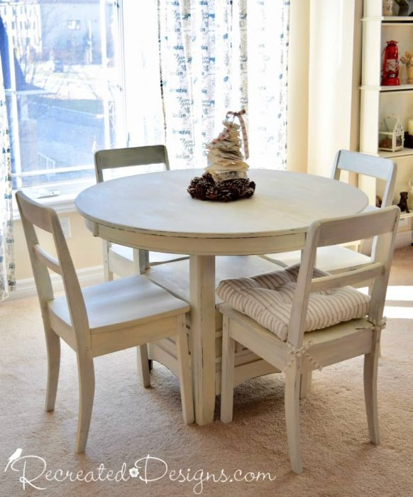 painted dining room set by Recreated Designs
