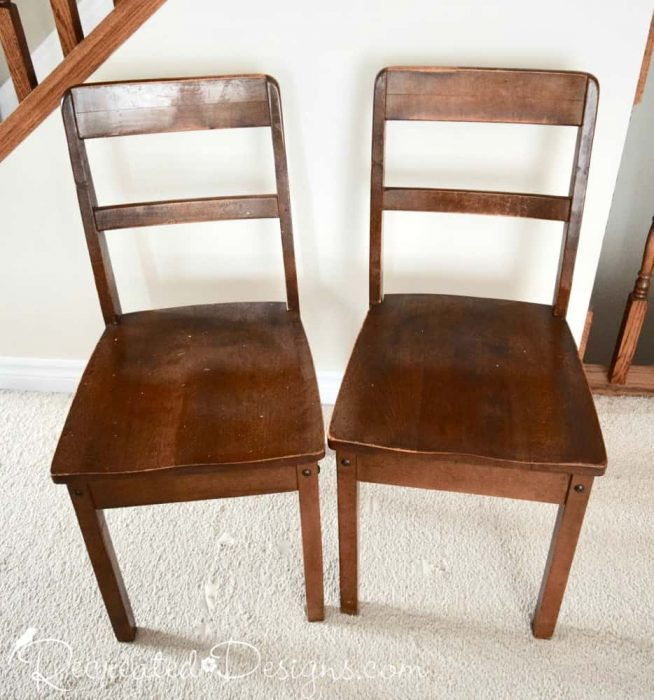 wood chairs found at the dump