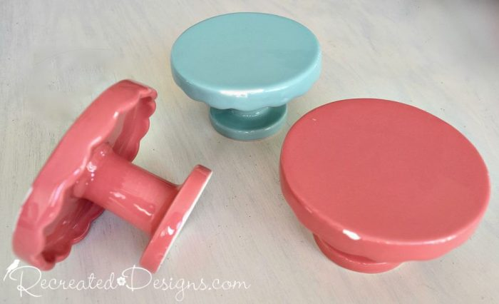 chipped cupcake stands from Target