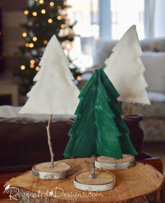 Christmas Trees made from felt