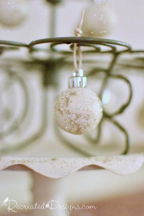 ornaments painted with Annie Sloan Chalk Paint in Old Ochre