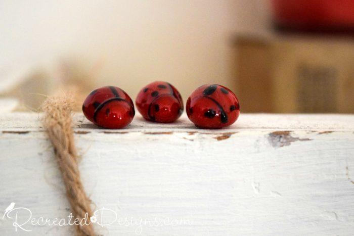 glass ladybugs