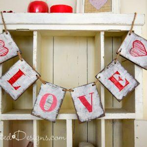 wooden love garland