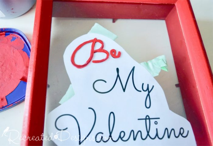 painting on glass for valentine art