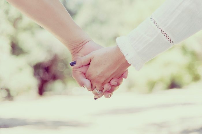 holding hands thogether