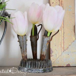 Spring tulips in sap spiles