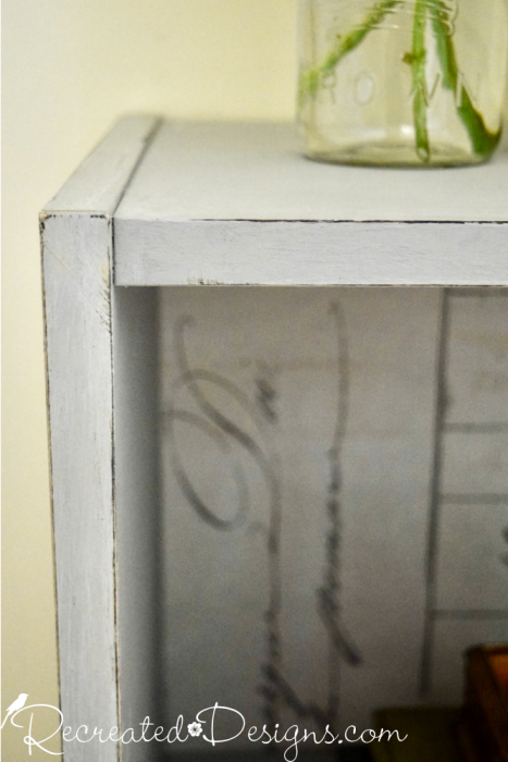 light distressing on chalk paint to give an aged look