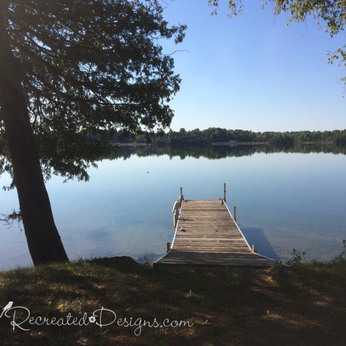 dock on a calm lake