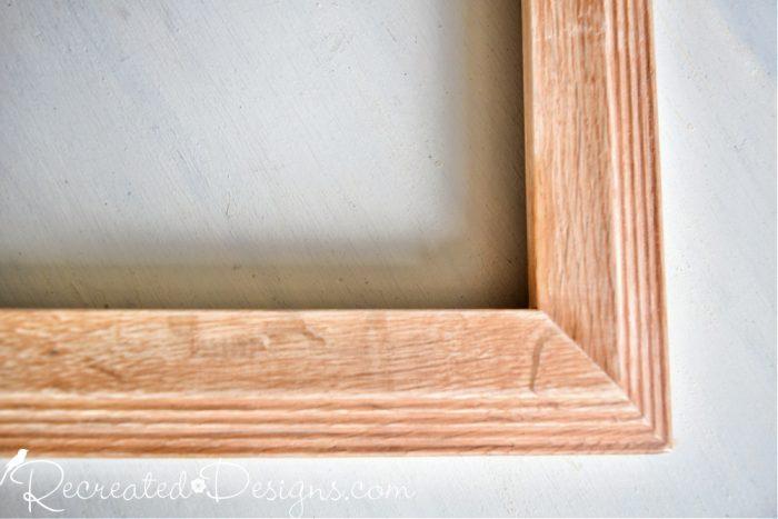 sanded oak frame