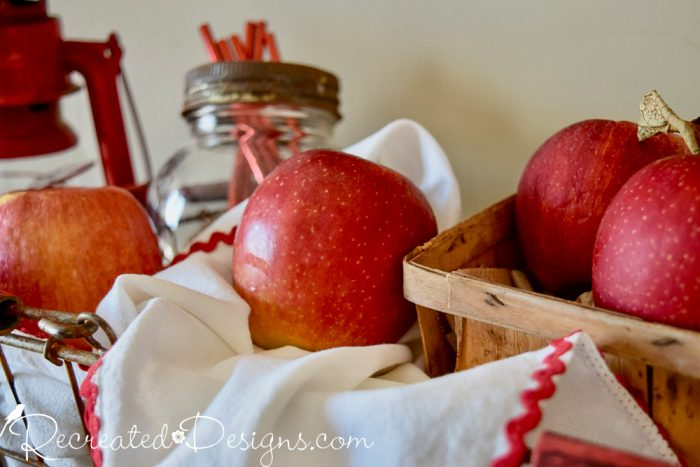 apples in a basket ready for fall