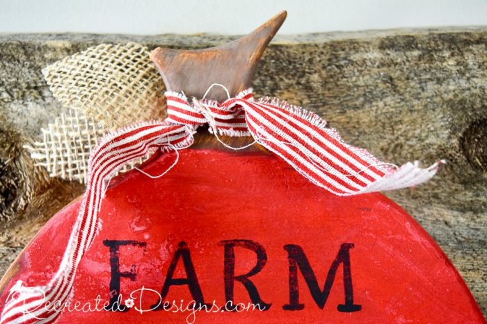 vintage-inspired red striped ribbon