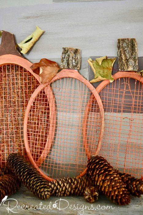 badminton racket pumpkin