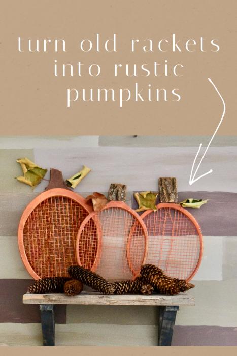 tennis racket pumpkins