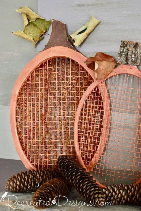 tennis racket pumpkin