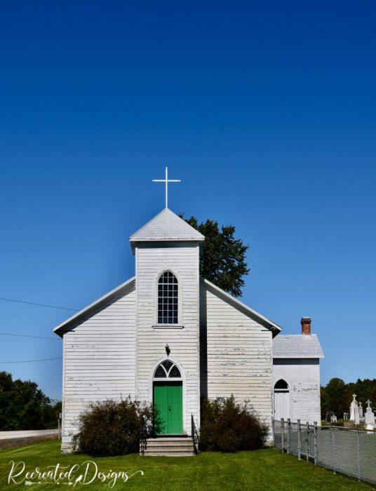 Old wood church eastern Ontario