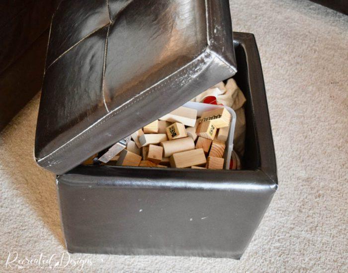 damaged storage cube
