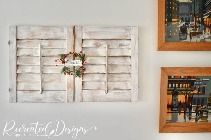 old shutters and vintage paint by numbers