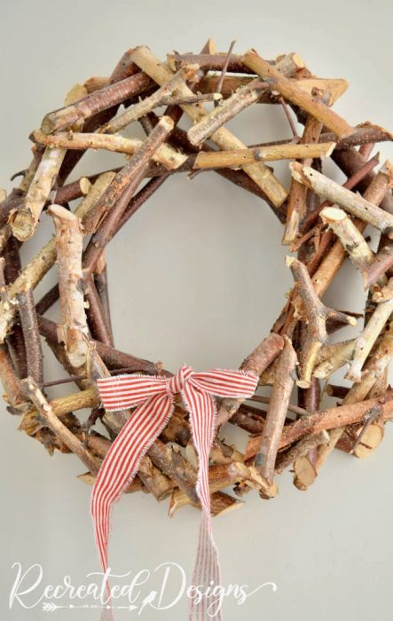wreath made from twigs