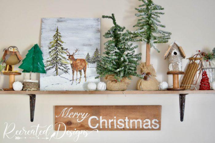 wood and natural Christmas decor