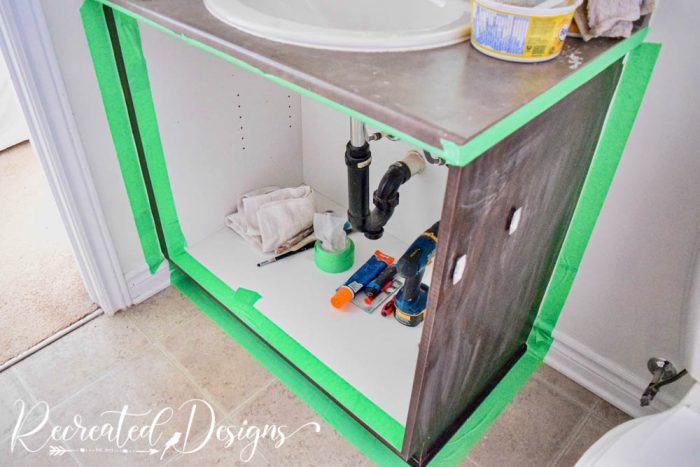painting a bathroom cabinet